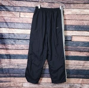 Nike Men's Black Windbreaker Jogging Pants Large
